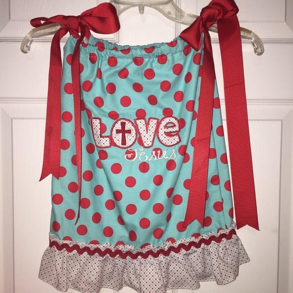 Polka Dot Pillowcases Delectable Beans Dresses Girls Polka Dot Pillowcase Boutique Dress Size 60t